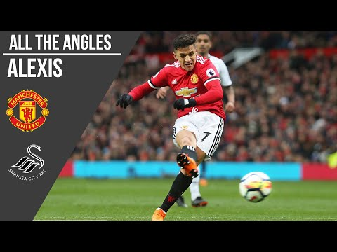 Alexis Sanchez v Swansea City Goal | All The Angles | Manchester United