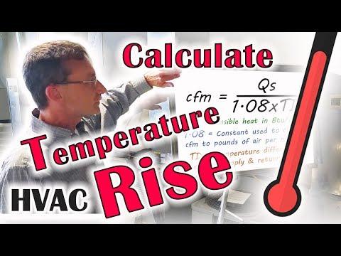 HVAC - Calculate Temperature Rise
