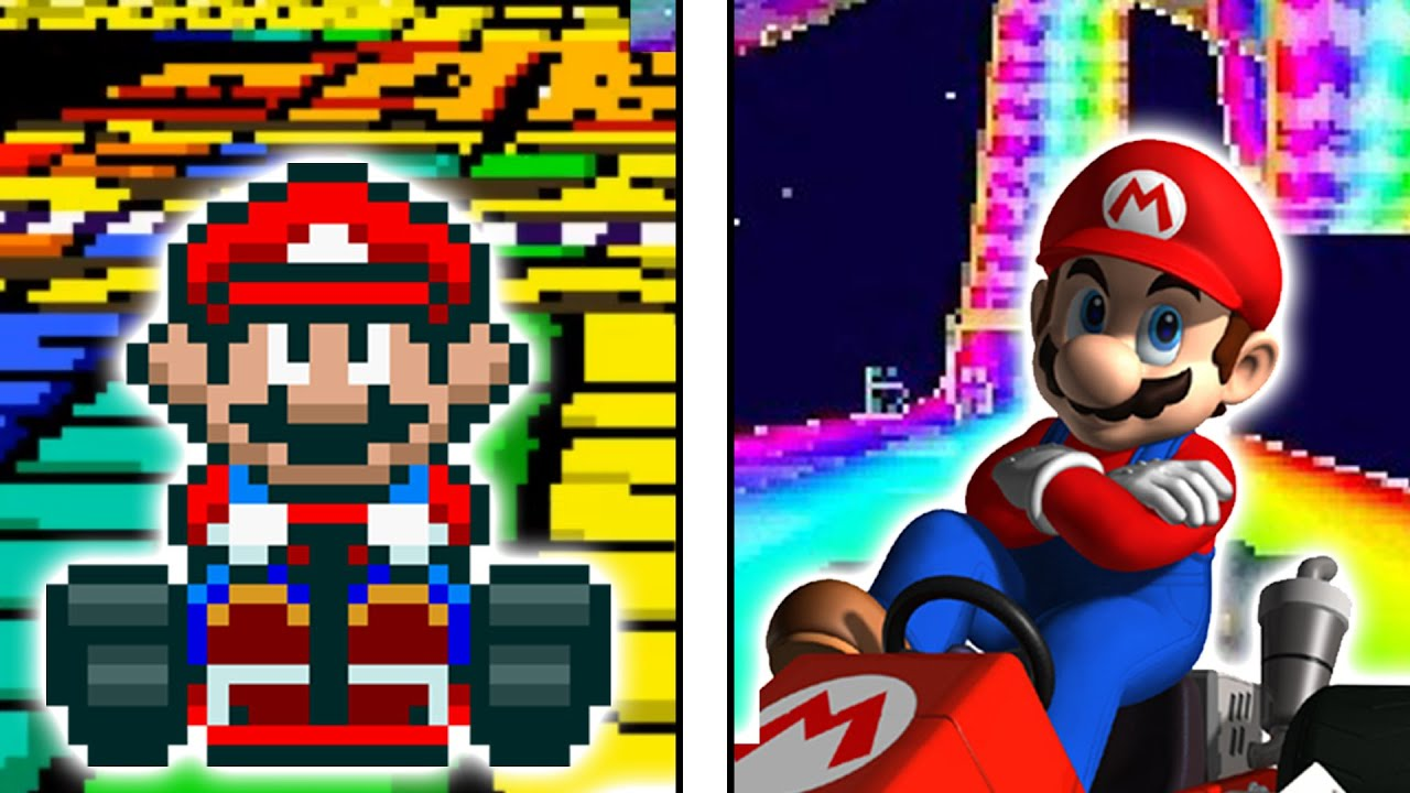 Super Mario Kart With Every Mario Kart Ds Track