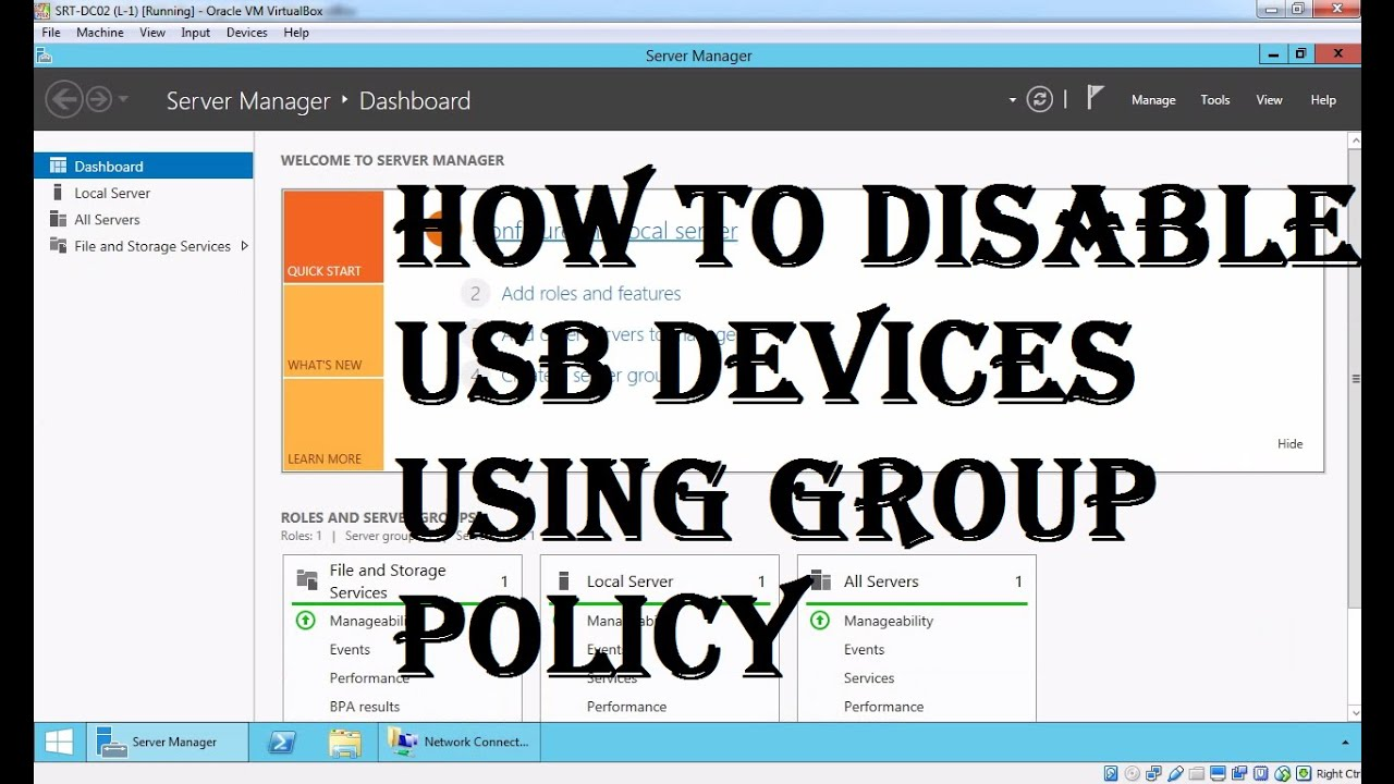 How to Disable USB Devices Using Group Policy
