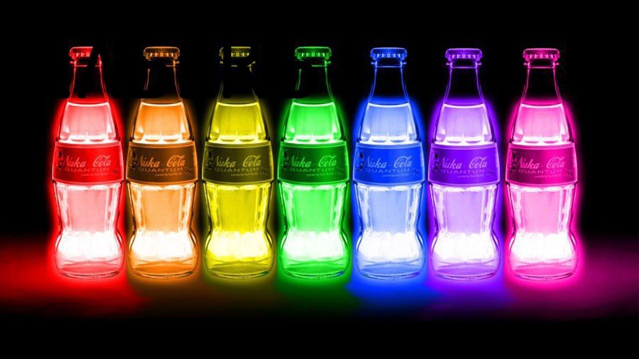 3 Trucos con liquidos fluorescentes | COCA COLA fluorescente de fall out