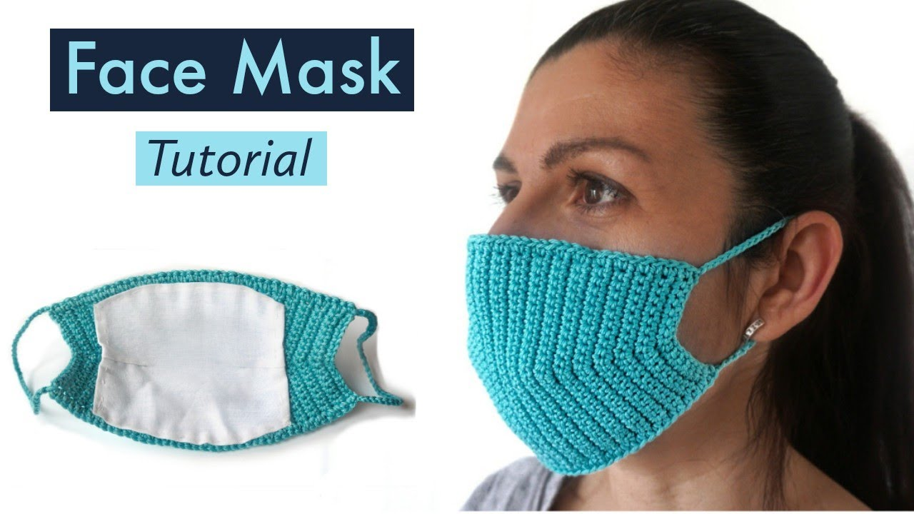How to make Crochet Face MASK DIY | Heklana Maska za Lice