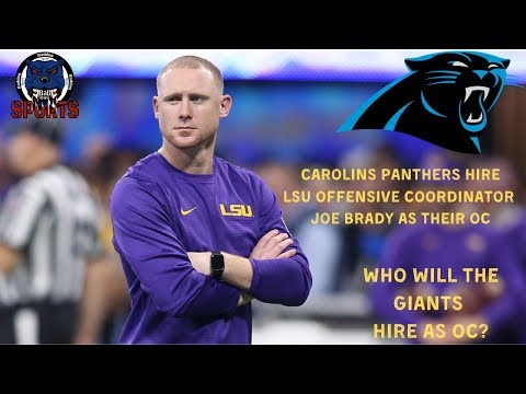 Carolina Panthers Hire LSU's Joe Brady As OC. Who Will The New York Giants Hire As OC?