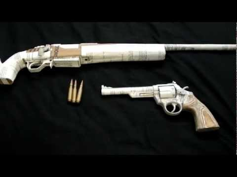 "Paper Revolver & Paper ""Rifle"""