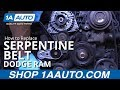 How to Install Replace Serpentine Belt 2008 Dodge Ram 5.7L Hemi BUY QUALITY AUTO PARTS AT 1AAUTO.COM