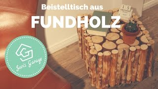 Beistelltisch aus Altholz selber bauen - Upcycling - Tisch DIY Anleitung