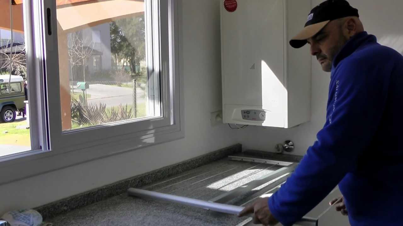 Cómo armar un tendedero de ropa de aluminio en casa - YouTube
