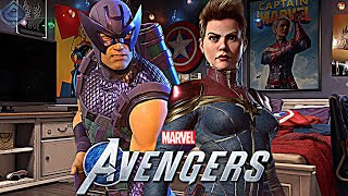 Marvel's Avengers Game - Captain Marvel FIRST LOOK and Hawkeye Easter Egg!
