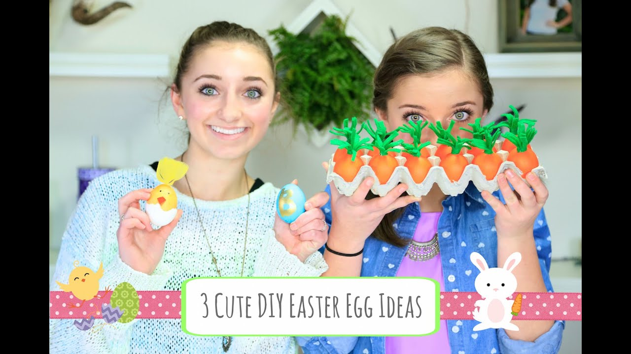 3 Cute DIY Easter Egg Ideas