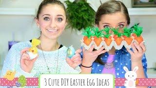 3 Cute Diy Easter Egg Ideas | Brooklyn And Bailey
