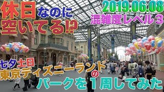 【今年が狙い目?】七夕初の土曜日の東京ディズニーランドのパークを1周してみた