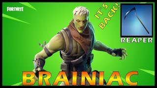 "NEW ""BRAINIAC"" SKIN in FORTNITE - THE ""REAPER"" IT'S BACK!!! // SOLO GRIND // 333 SOLO WINS"