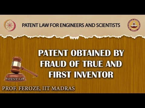 Patent obtained by Fraud of True and First Inventor