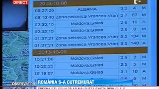 UPDATE / Cutremur de 5,5 grade in Vrancea