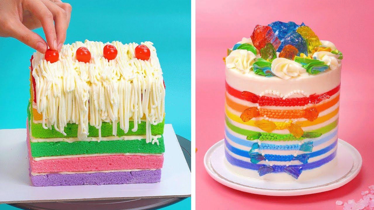 Tasty Rainbow Cake Decorating Ideas | So Yummy Cake Hacks Ideas | Colorful Cake Compilation