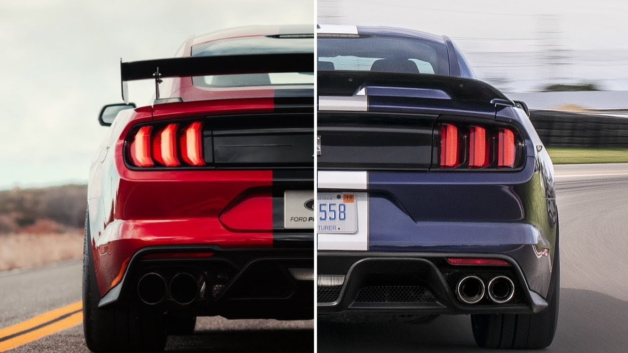 2020 Ford Shelby GT500 Vs. 2019 Ford Shelby GT350 - YouTube