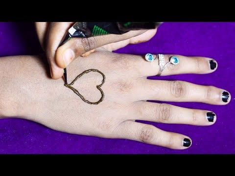 lovely heart mehndi design for hands | latest mehndi design 2018 | simple mehndi design | Mehndi