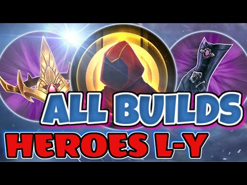 THE BEST BUILDS FOR ALL HEROES L-Y | VAINGLORY 5V5 GUIDE