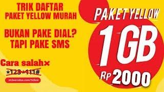 Cara daftar paket yellow murah terbaru indosat ooredoo