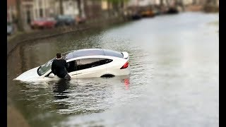 The Grand Tour A Tesla Model-X can not float.