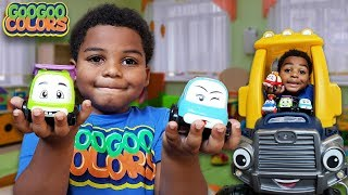 WHERE ARE THE CAR KIDS GOO GOO GAGA?  (Learn to Recognize Colors in Hide & Seek Game)
