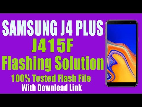 Samsung J4 Plus J415F Full Flashing With Tested Flash File Download Link  (Android 8 0 )