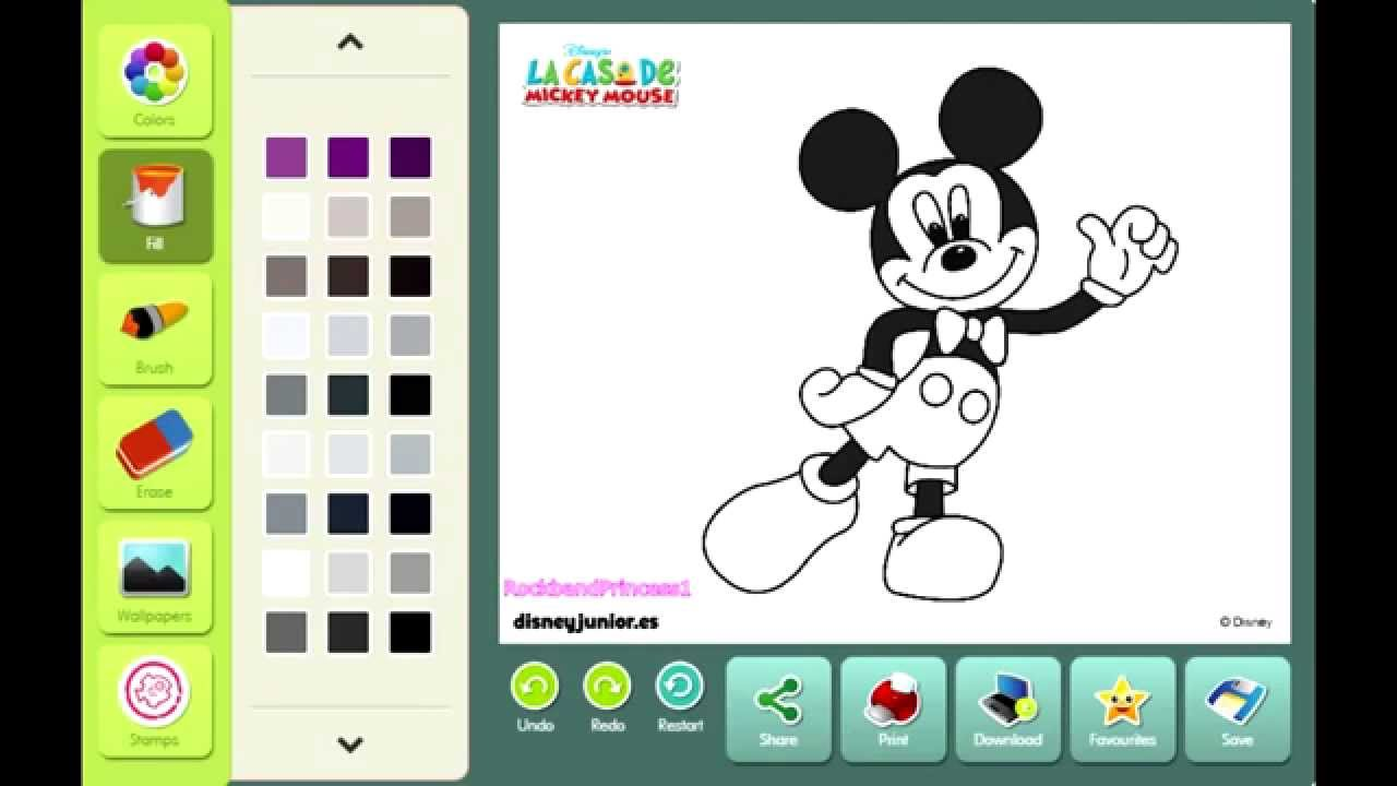 Mickey Coloring Games
