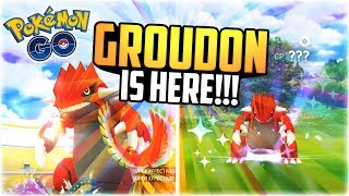 Pokemon Go - GROUDON IS HERE! (CRAZY WEATHER BOOSTED CP + NEW GEN 3 LEGENDARY IN POKEMON GO!)