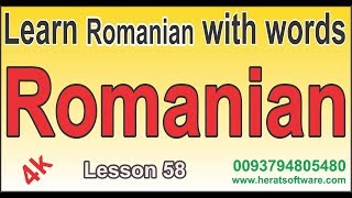 Learn Romanian with words