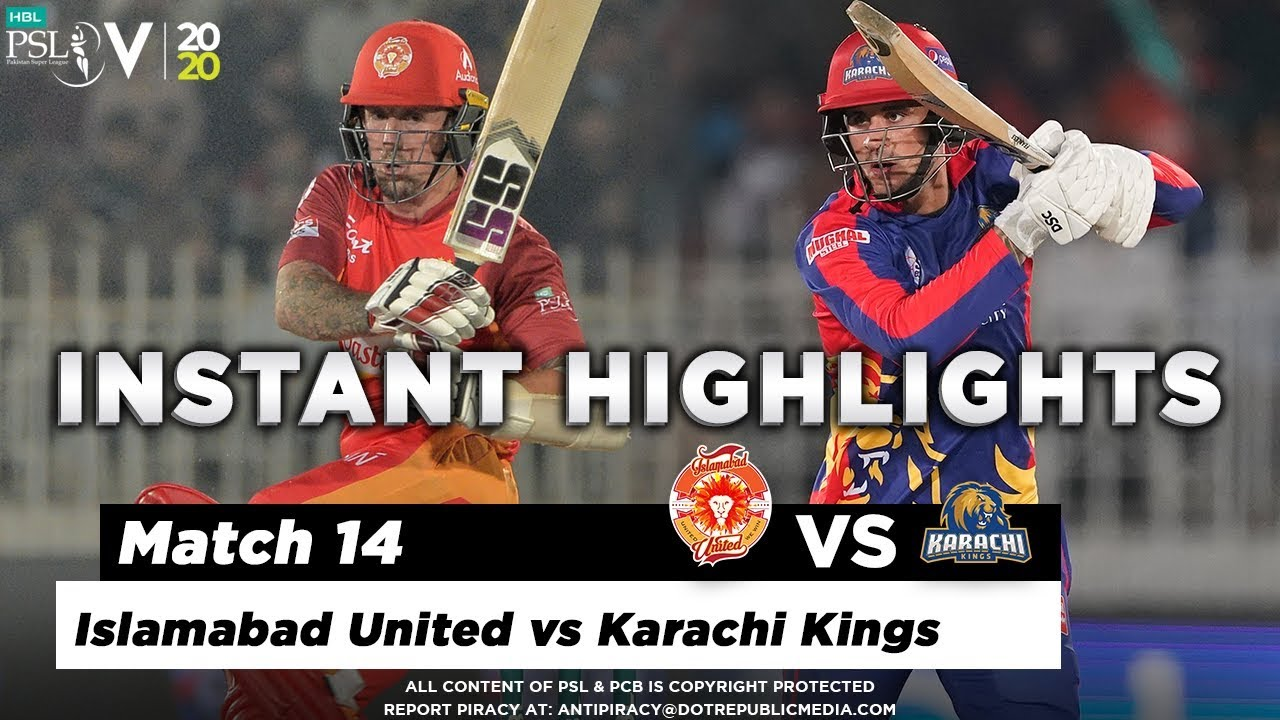 Islamabad United vs Karachi Kings   Full Match Instant Highlights   Match 14   1 March   HBL PSL 5