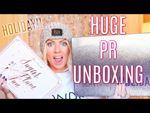 HUGE PR UNBOXING   Urban Decay Heavy Metal Holiday, Too Faced Sugar Plum Fun & Much More!