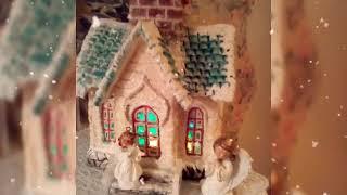 Как сделать своими руками Рождественский домик из картона.