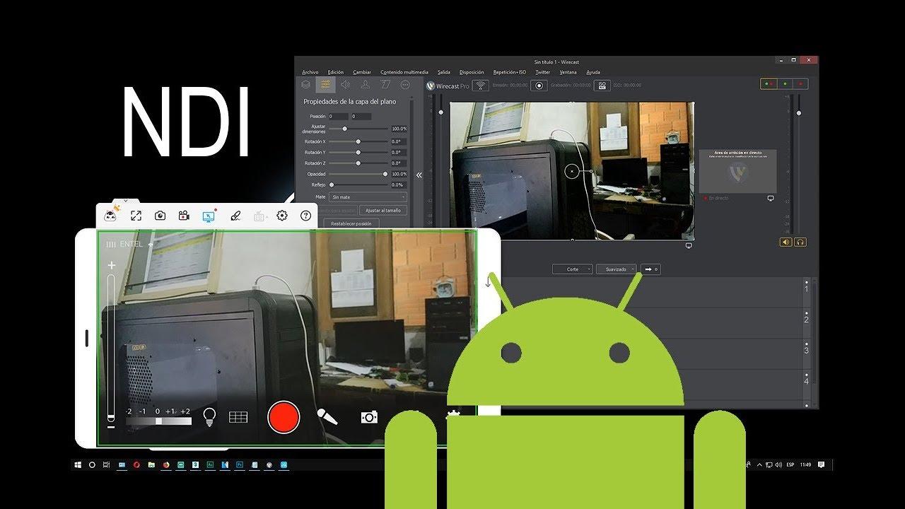 Conecta tu Android a Wirecast por NDI