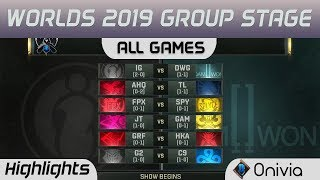 Group Stage Day 3 Full Day Highlights Worlds 2019 By Onivia