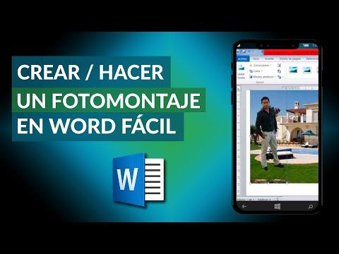 Cómo Crear o Hacer un FOTOMONTAJE en Word - Fácil y Rápido