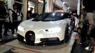 Midnight delivery of a $2.5 MILLION Arab Bugatti Chiron in London