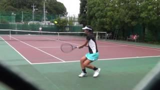 20150811 15-Year Old Angelyna Tatsuko 18U Singles Highlights at Green Tennis Plaza in Saitama, Japan