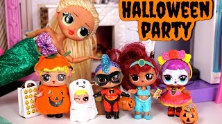 Barbie LOL Family Halloween Party with LOL OMG Dolls, Goldie & Punk Boi