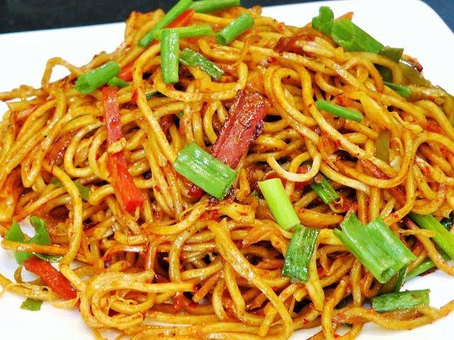 शेजवान नूडल्स | Schezwan Noodles Recipe | Indian ...