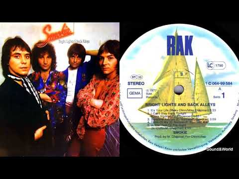 Smokie – Bright Lights And Back Alleys (Vinyl, LP, Album) 1977.