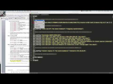 An Introduction To TCL Scripting For Cisco IOS Devices - How To Automate Common