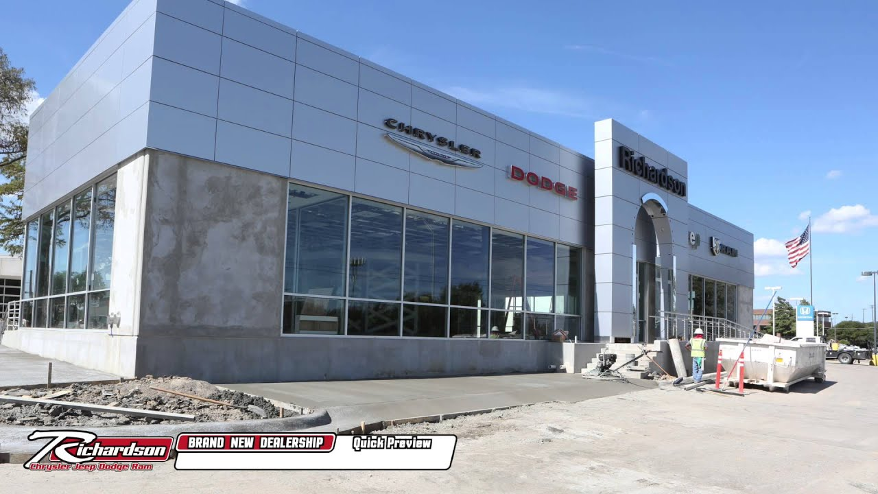 Brand New Richardson Chrysler Jeep Dodge Ram Dealership ...