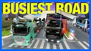 Driving The Busiest Road with 4500 Trucks in Euro Truck Simulator 2