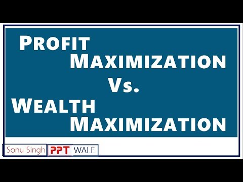 PROFIT MAXIMIZATION VS WEALTH MAXIMIZATION IN HINDI | Difference | BBA/MBA/Bcom | ppt