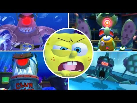 SpongeBob Truth or Square All Bosses | Final Boss (Wii, X360, PSP)