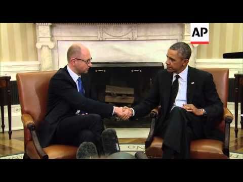 After meeting Ukraine's new prime minister at the White House, President Barack Obama says that if R