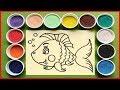 Đồ chơi trẻ em TÔ MÀU TRANH CÁT CÁ VÀNG BƠI | Learn Colors Sand Painting Toys (Chim Xinh) mp3 indir