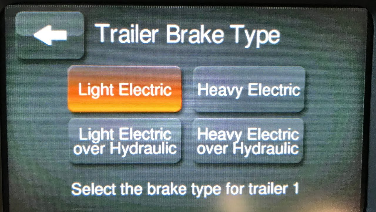 Trailer Brake Controller Flash And Premium Cluster Update For Tpms Electric Installation Problem