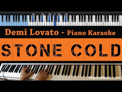 Demi Lovato - Stone Cold - LOWER Key (Piano Karaoke / Sing Along)