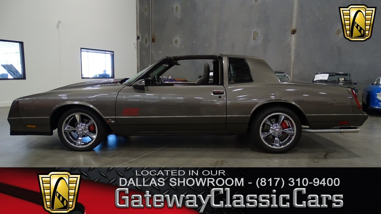Ss Monte Carlo >> 1987 Chevrolet Monte Carlo Ss 387 Dfw Gateway Classic Cars Of